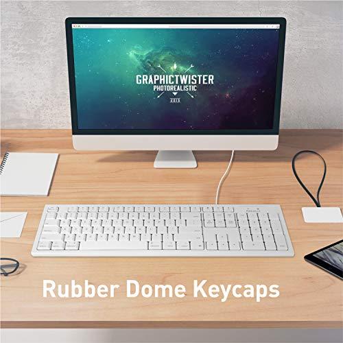 Macally Full-Size USB Wired Keyboard for Mac Mini/Pro ...